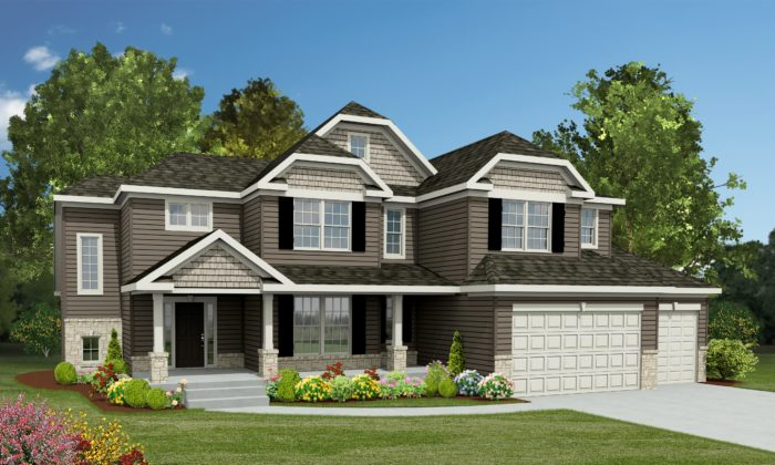 Kirkwood Mo new homes - Kingston C Render