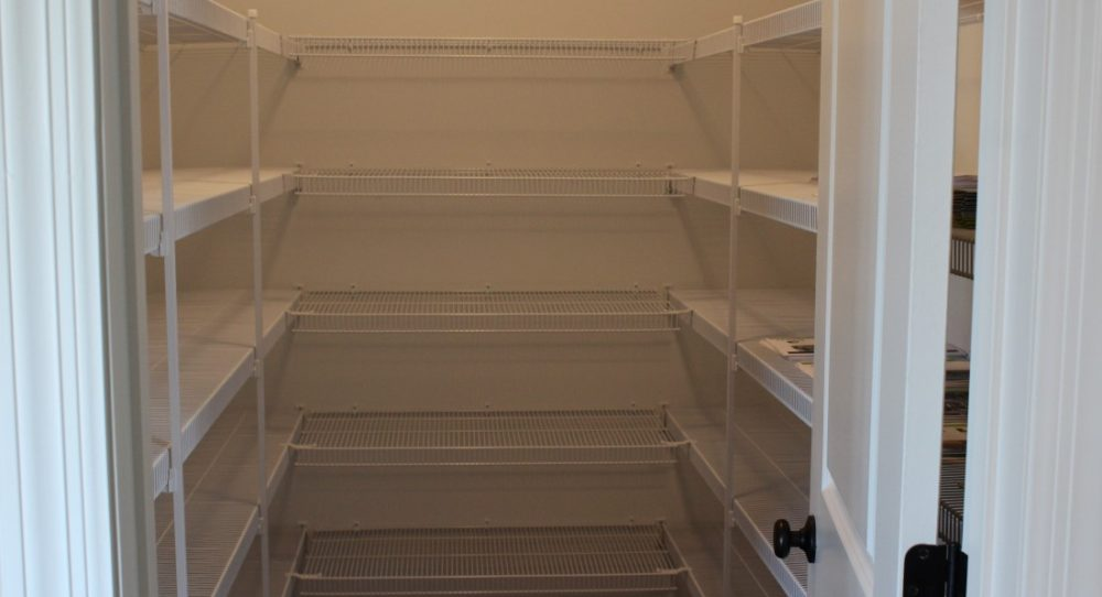 The large walk-in pantry offers storage for everything you need for the kitchen